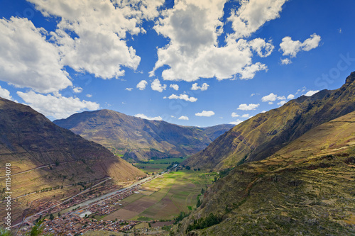Village of Pisac and Urubamba River