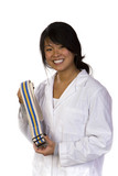 Professional physical therapist with a gait belt poster