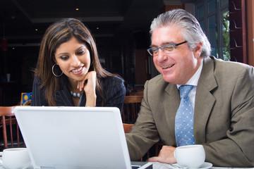 business team work together