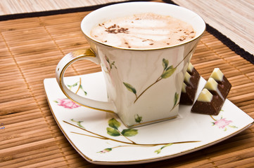 Cup of coffee withe chocolate.