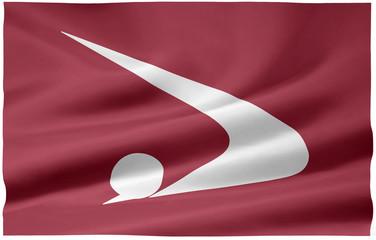 Flagge von Akita - Japan