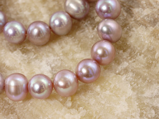 Necklace from a large pearls