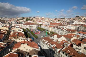 Lissabon Stadtansicht Rossio
