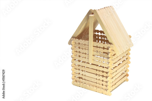 Wooden Popsicle Stick House