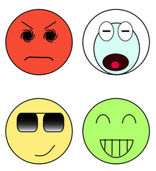 Set of color emoticons
