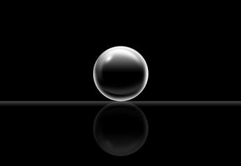 Single black sphere