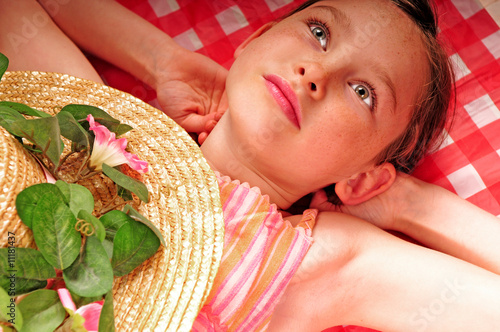 Young girl at picnic