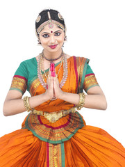 female classical dancer from asia