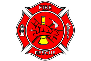 A Firefighter patch with symbols