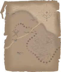 Pirate Map To The Lost Treasure