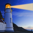 historic heceta head lighthouse in oregon with enhanced beam