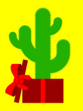 Cactus in parcel poster