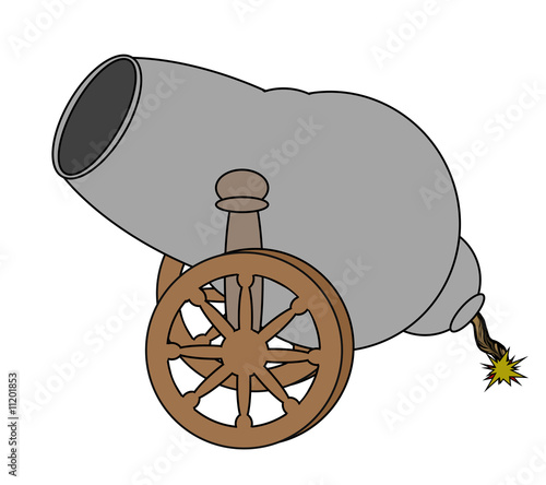 Cannon - Isolated On White