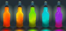 Butelki wektorowe. gradient mesh jest używany.