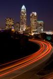 Car traveling to Downtown Charlotte, North Carolina - Fine Art prints
