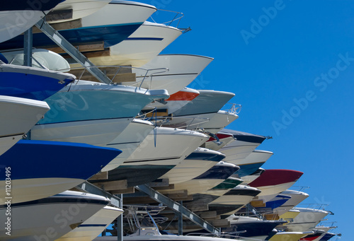 Boats on Storage Rack - 11203495