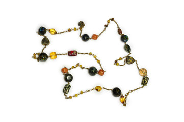 A necklace of glass beads, industrial arts