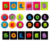 SOLDES : boutons et étiquettes