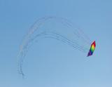 Stack of 12 stunt kites poster