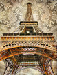 artistic picture of Eiffel tower