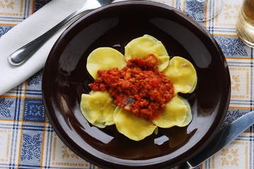Ravioli di magro - Primo piatto della cucina Toscana