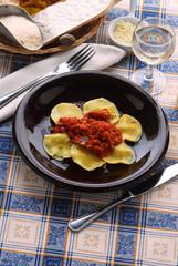 Ravioli di magro - Primi piatti della cucina Toscana