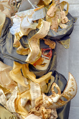Venice carnival. Mask on the street