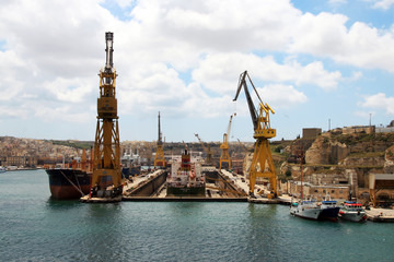 dockyard - shipyard - on Malta