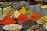 Spices shop in the medina of Fes, Morocco poster