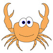 Crab Cartoon - Isolated On White