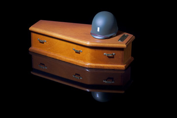 Helmet on Coffin