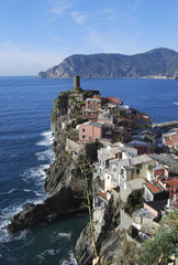 View of Vernazza in Liguria - Italy