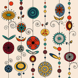 authentic ornament design vector poster