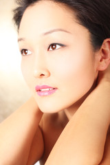 Young Asian model with flawless complexion