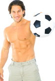 Fitness Man Holding Soccer Ball