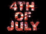 4th of july fireworks text poster