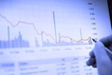 Economic contraction graph poster