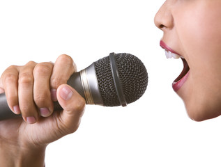 Face with microphone