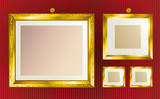 Background with gold frames