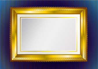Background with gold frame