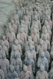 A group of the famous Terracotta warriors in Xian - China poster