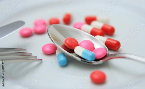 Papiers peints Buffet, Bar médicaments