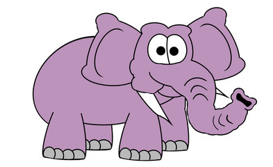 Pink Elephant - Isolated On White