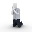 Human praying