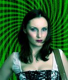 Bad MATRIX Girl alla Neo Trinity - brown haired beauty -