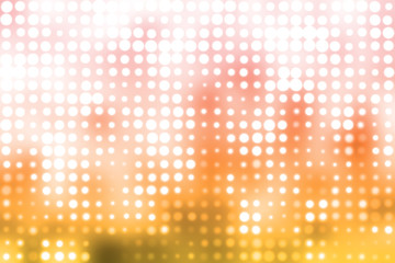 Orange and White Glowing Futuristic Light Background