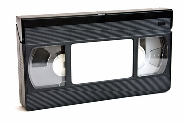 VHS video Tape Isolated on White