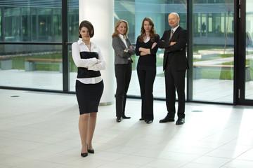 self confident businessteam