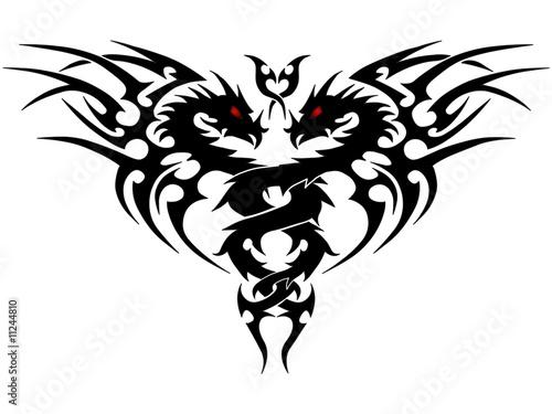 Drachen-Tribal-Wappen