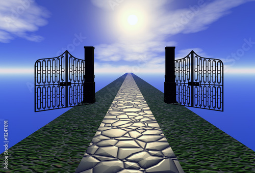 way to heaven 3d illustration